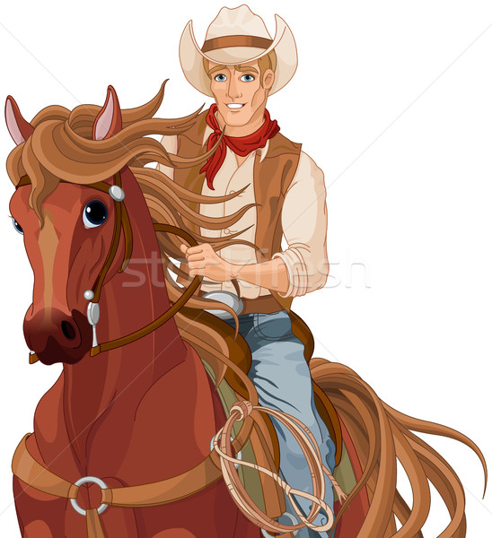 Horse Riding Cowboy Stock photo © Dazdraperma