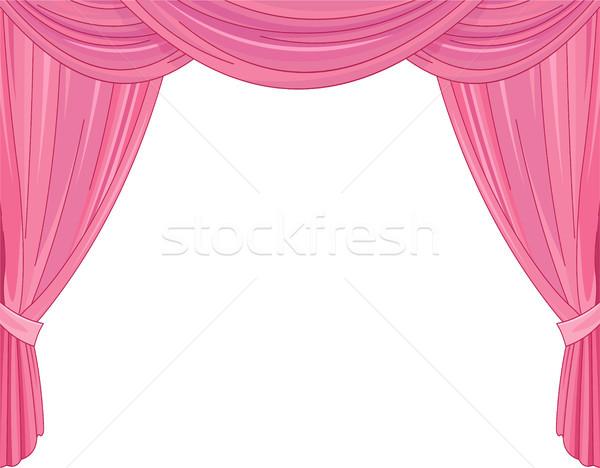 Pink Curtains Stock photo © Dazdraperma