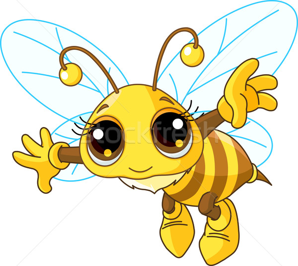 Cute Bee flying Stock photo © Dazdraperma