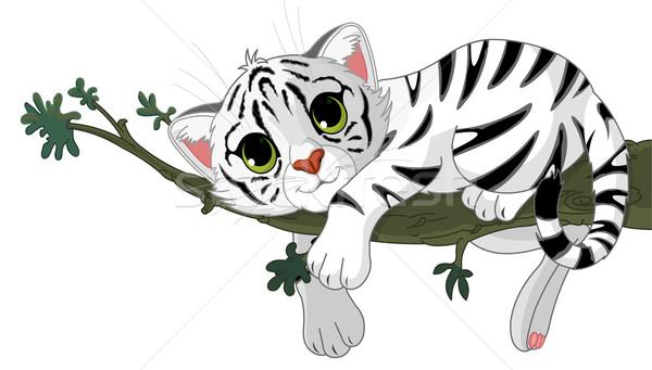 Tiger is on a branch Stock photo © Dazdraperma