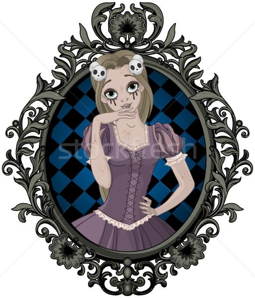 Halloween prenses örnek güzel kız yukarı gibi Stok fotoğraf © Dazdraperma
