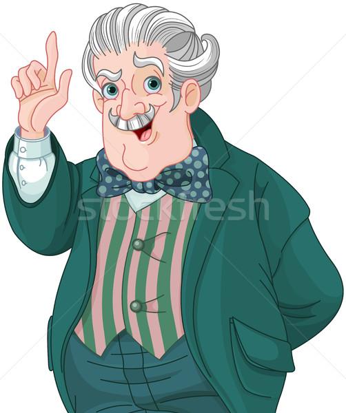 Estilo cavalheiro ilustração falante professor terno Foto stock © Dazdraperma