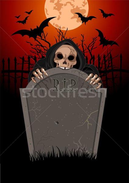 Stock photo: Halloween Grim Reaperanger