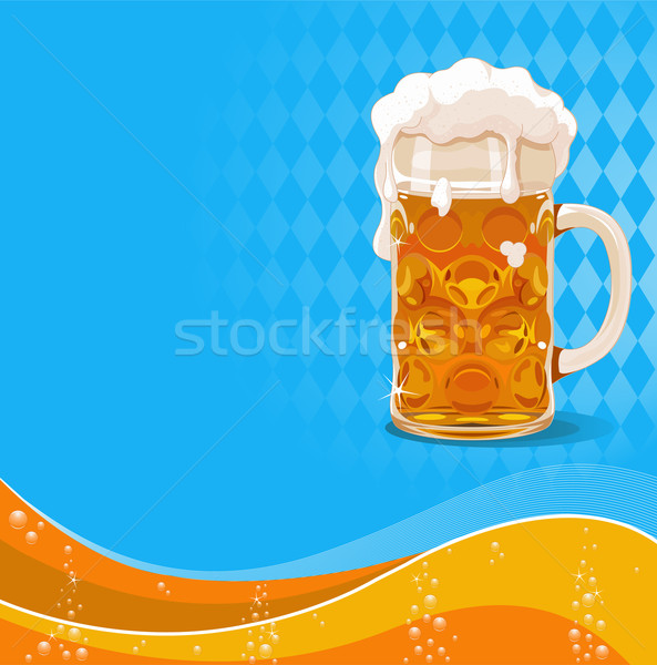 Oktoberfest beer background Stock photo © Dazdraperma