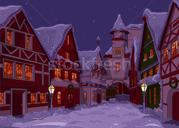 Christmas town  Stock photo © Dazdraperma