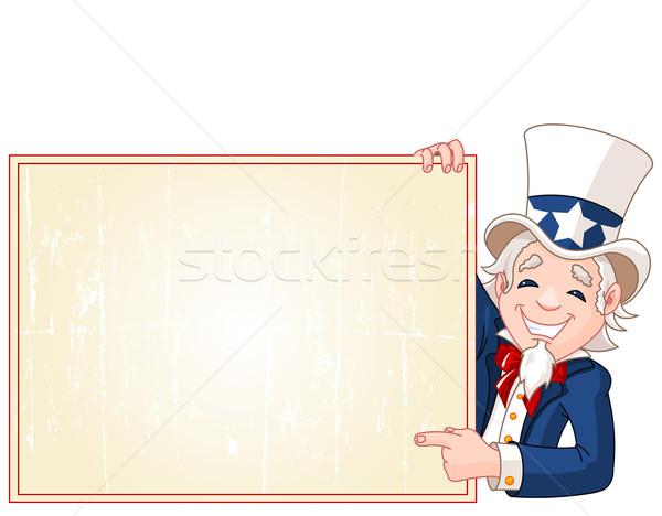 Tío signo ilustración Cartoon Foto stock © Dazdraperma