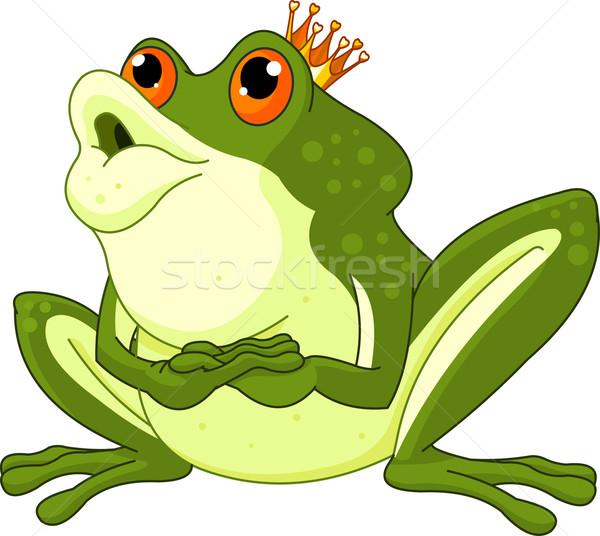 Kurbağa prens bekleme sanat klibi sevmek mutlu Stok fotoğraf © Dazdraperma