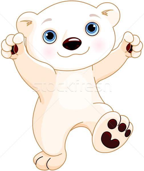 Dancing orso polare illustrazione cute baby natura Foto d'archivio © Dazdraperma