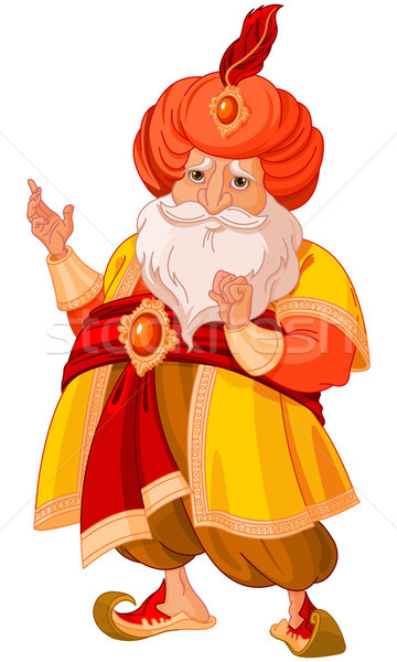 Illusztráció aranyos személy rajz mágikus vallás Stock fotó © Dazdraperma