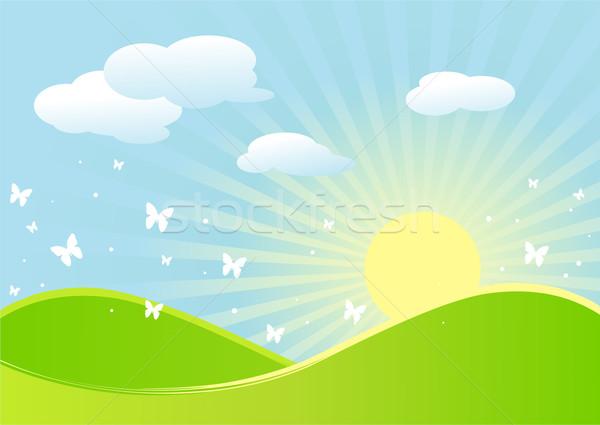 Spring landscape Stock photo © Dazdraperma