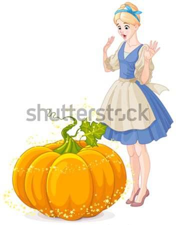 Fairy Godmother & Cinderella Stock photo © Dazdraperma