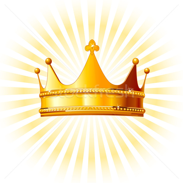Golden crown  on glowing  background Stock photo © Dazdraperma