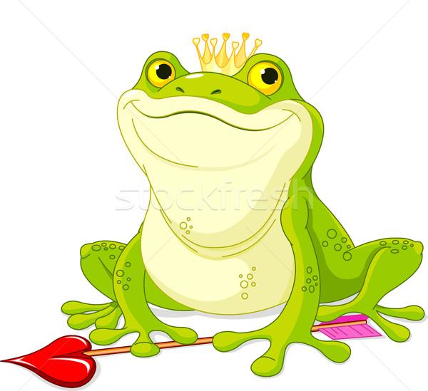 Kurbağa prens bekleme sevmek mutlu öpücük Stok fotoğraf © Dazdraperma