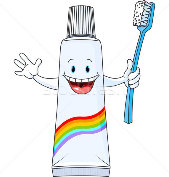 Cartoon Toothpaste Character Stock photo © Dazdraperma