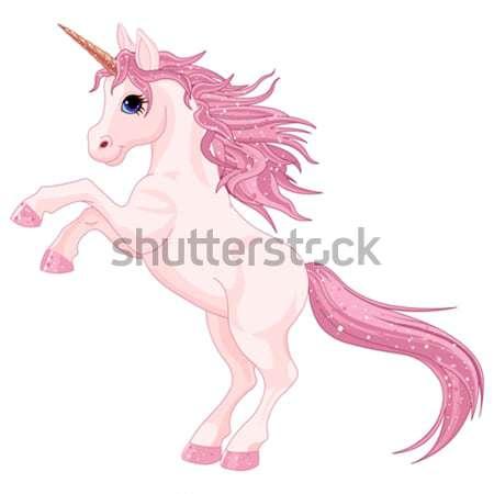 Magie illustratie cute paard schoonheid kunst Stockfoto © Dazdraperma