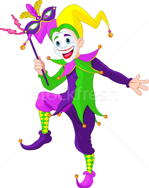 Mardi Gras jester Stock photo © Dazdraperma