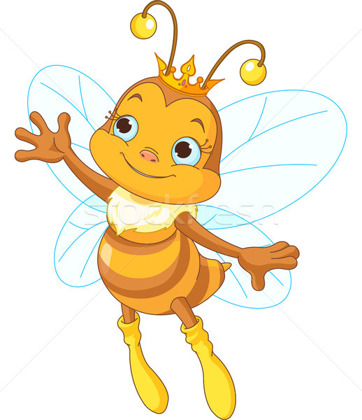 Koningin bee tonen illustratie cute presenteren Stockfoto © Dazdraperma