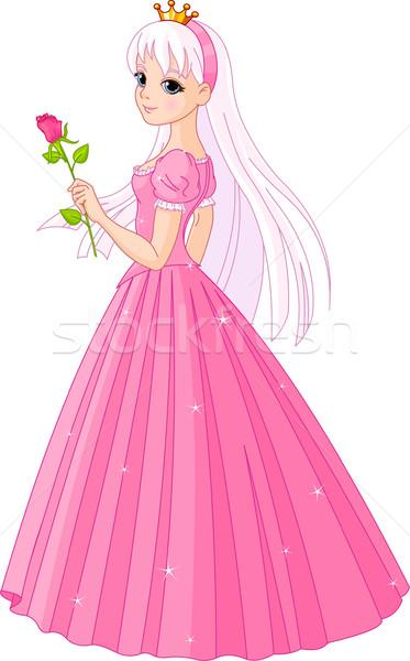 Gyönyörű hercegnő rózsa illusztráció Stock fotó © Dazdraperma