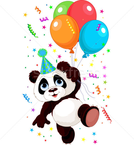 Panda and Balloons Stock photo © Dazdraperma