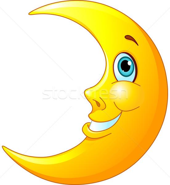 Sonriendo luna ilustración feliz amistoso sonrisa Foto stock © Dazdraperma