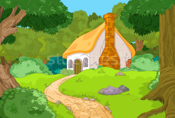 Cartoon Forest Cabin Stock photo © Dazdraperma