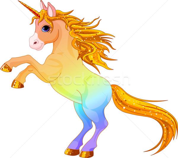 Arco-íris desenho animado esportes liberdade livre Foto stock © Dazdraperma
