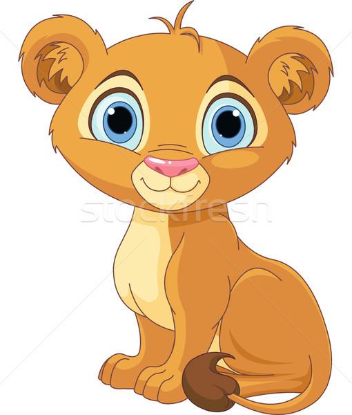 ライオン 王 カブ かわいい 文字 面白い ストックフォト © Dazdraperma