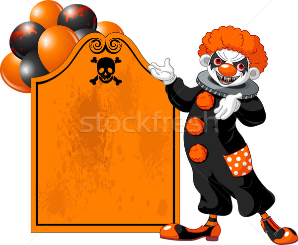 Scary Halloween Clown inviting Stock photo © Dazdraperma