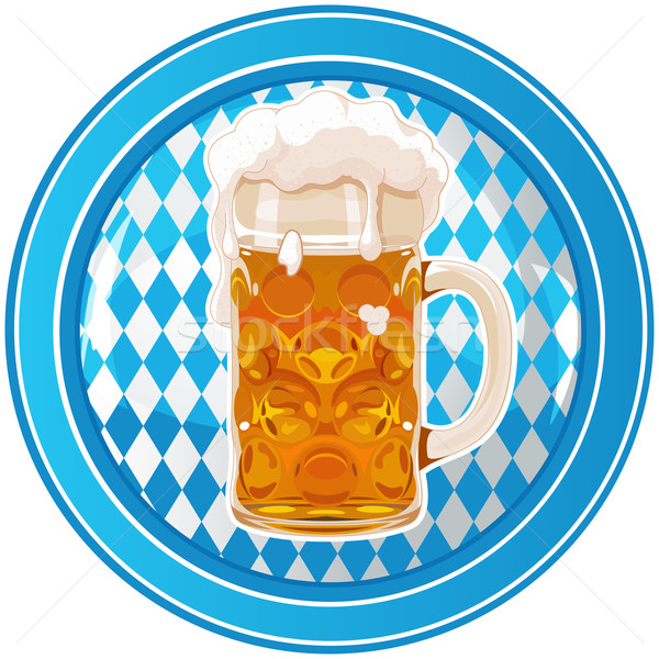 Foto stock: Oktoberfest · círculo · botón · celebración · cerveza · vidrio