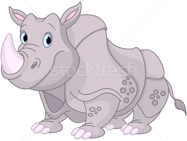 Cute Rhino  Stock photo © Dazdraperma