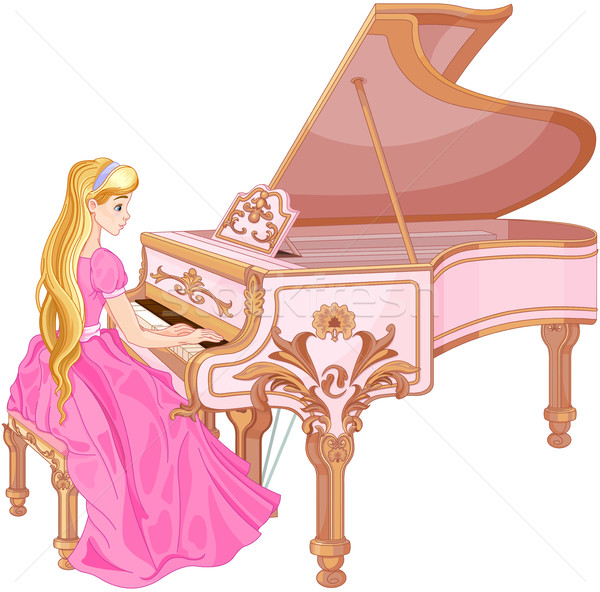 Princess Playing the Piano Stock photo © Dazdraperma