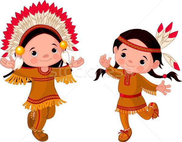 American Indians dancing  Stock photo © Dazdraperma