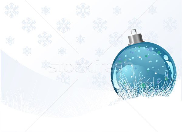 Christmas background with ball Stock photo © Dazdraperma