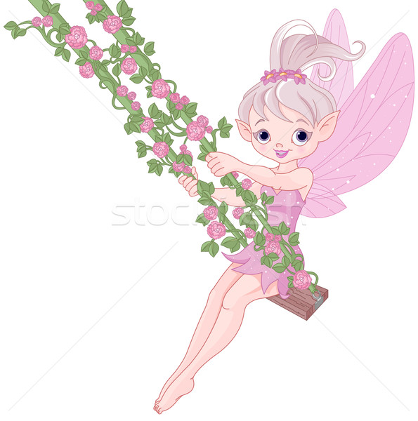 Pixy Fairy on a Swing Stock photo © Dazdraperma