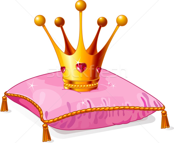 Princess crown on the pink pillow Stock photo © Dazdraperma