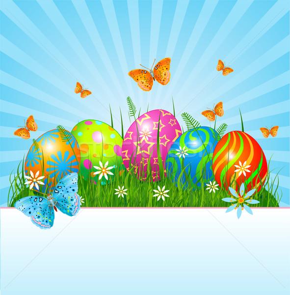 Easter background Stock photo © Dazdraperma