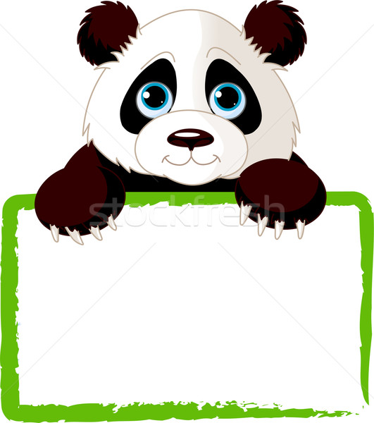 Cute Panda Card Stock photo © Dazdraperma