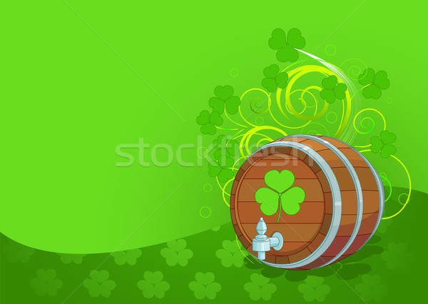 St. Patrick's Day design with beer keg Stock photo © Dazdraperma