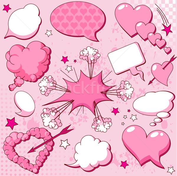 Liefde stijl kunst teken Stockfoto © Dazdraperma