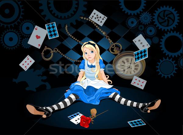 Alice in surprise Stock photo © Dazdraperma
