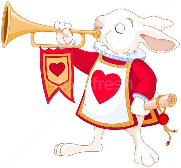 Bunny royal trumpeter Stock photo © Dazdraperma