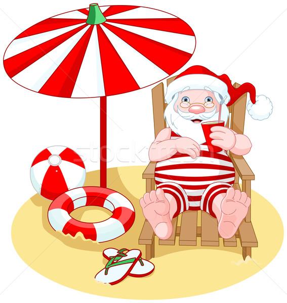 Santa Claus on the Beach Stock photo © Dazdraperma