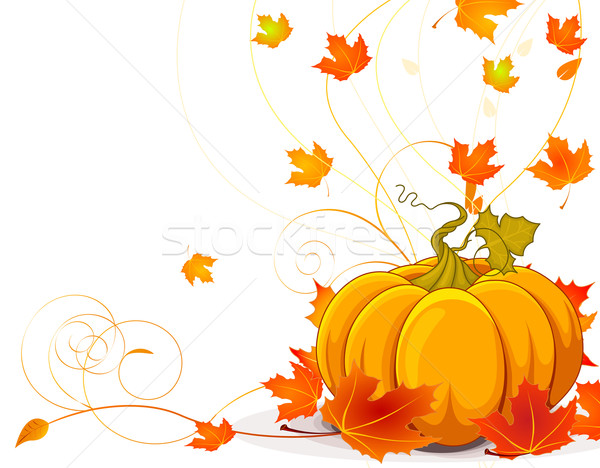 Autumn place card Stock photo © Dazdraperma