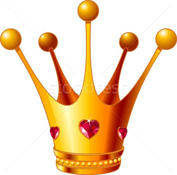 Princesa coroa belo ilustração ouro fundo Foto stock © Dazdraperma