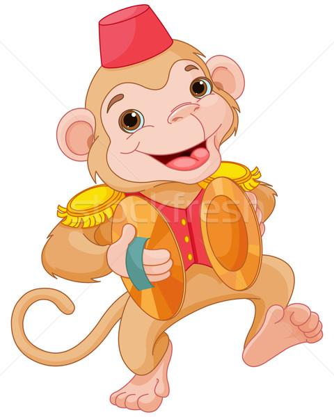 Müzikal maymun örnek sevimli oynama el Stok fotoğraf © Dazdraperma