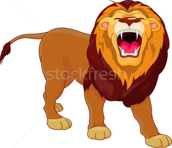 Roaring lion  Stock photo © Dazdraperma