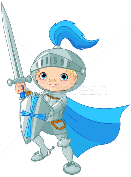 Stock photo: Fighting Brave Knight