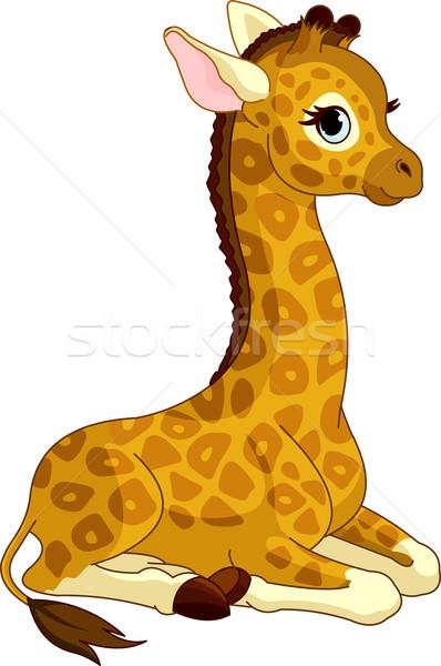 Zsiráf illusztráció kicsi aranyos Stock fotó © Dazdraperma