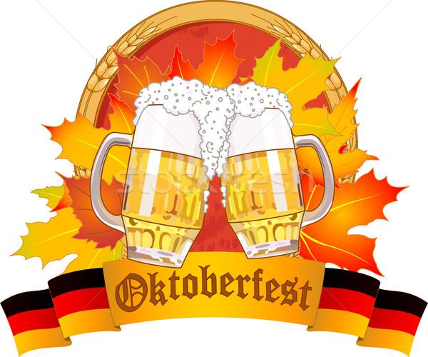 Oktoberfest design Stock photo © Dazdraperma