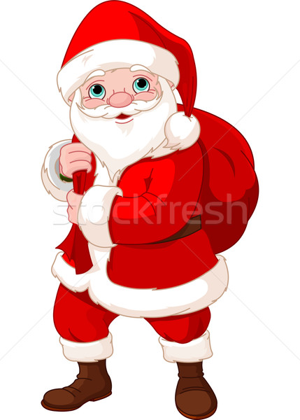 Santa Claus with a Bag  Stock photo © Dazdraperma